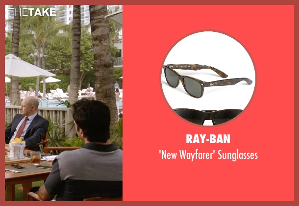 Ray-Ban brown sunglasses from Ballers seen with Jason (Troy Garity)