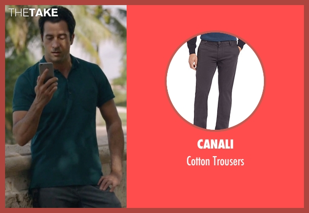 Canali gray trousers from Ballers seen with Jason (Troy Garity)