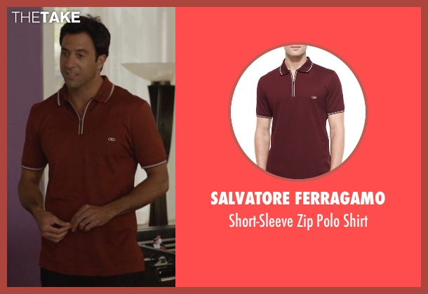 Salvatore Ferragamo red shirt from Ballers seen with Jason (Troy Garity)