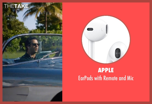 Apple white mic from Ballers seen with Jason (Troy Garity)
