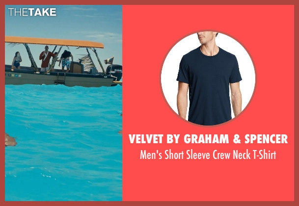 Velvet By Graham & Spencer blue t-shirt from Couple's Retreat seen with Jason Bateman (Jason Smith)