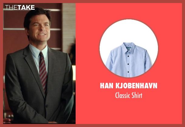 Han Kjobenhavn blue shirt from Horrible Bosses 2 seen with Jason Bateman (Nick Hendricks)