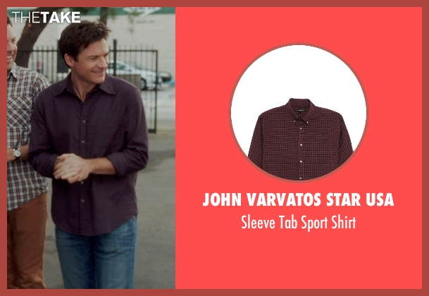 John Varvatos Star USA brown shirt from Horrible Bosses 2 seen with Jason Bateman (Nick Hendricks)