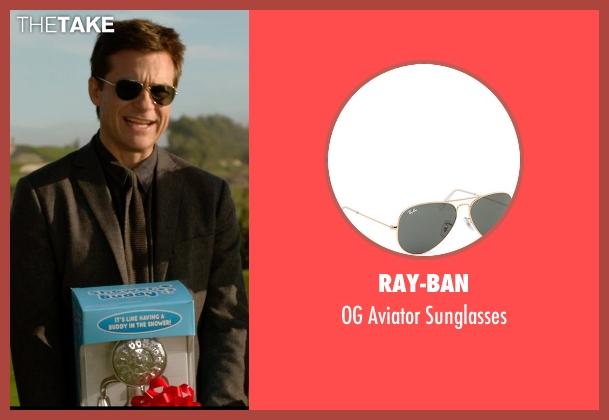 Ray-Ban gold sunglasses from Horrible Bosses 2 seen with Jason Bateman (Nick Hendricks)