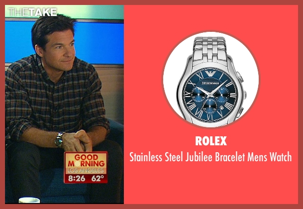 Rolex silver watch from Horrible Bosses 2 seen with Jason Bateman (Nick Hendricks)