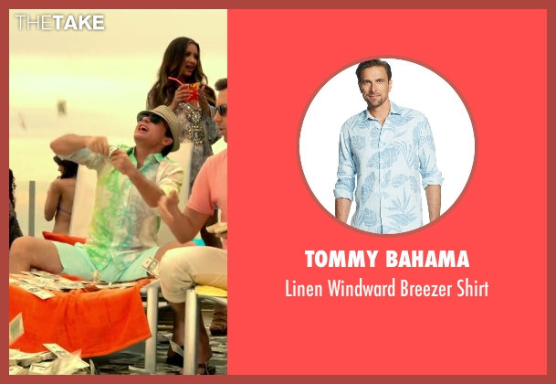 Tommy Bahama white shirt from Horrible Bosses 2 seen with Jason Bateman (Nick Hendricks)