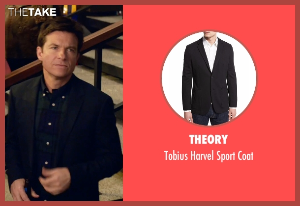 Theory black coat from Office Christmas Party seen with Jason Bateman (Josh)