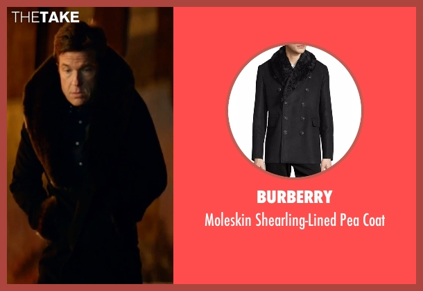 Burberry black coat from Office Christmas Party seen with Jason Bateman (Josh)