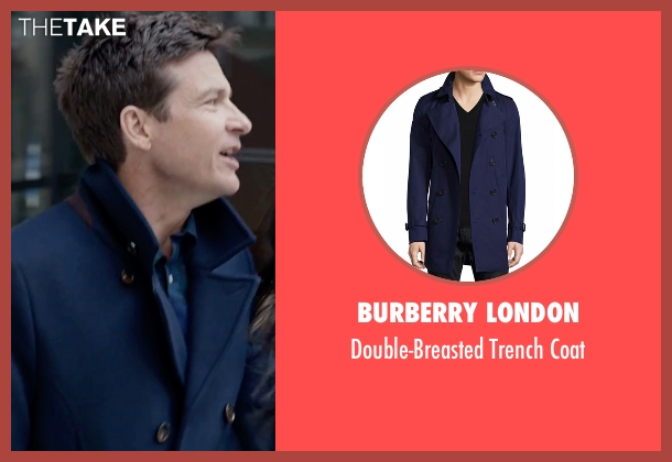 Burberry London blue coat from Office Christmas Party seen with Jason Bateman (Josh)