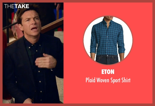 Eton blue shirt from Office Christmas Party seen with Jason Bateman (Josh)