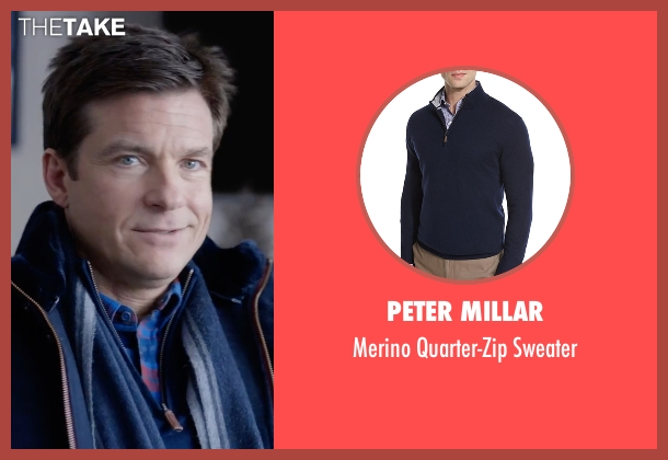 Peter Millar blue sweater from Office Christmas Party seen with Jason Bateman (Josh)