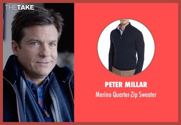 Peter Millar blue sweater from Office Christmas Party seen with Jason Bateman (Josh)