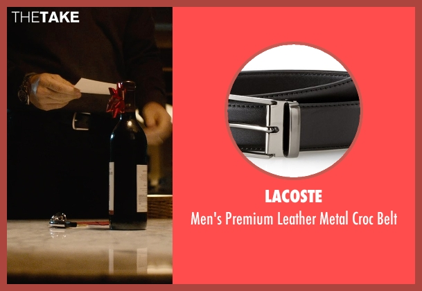 Lacoste black belt from The Gift seen with Jason Bateman (Simon)