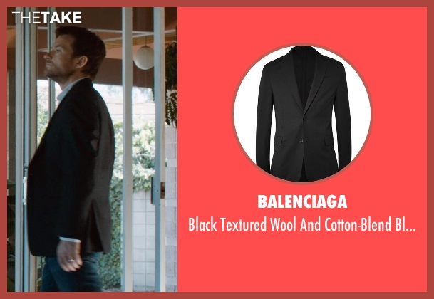 Balenciaga black blazer from The Gift seen with Jason Bateman (Simon)