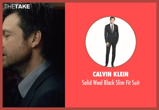 Calvin Klein black suit from The Gift seen with Jason Bateman (Simon)