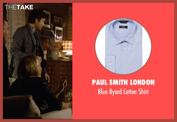 Paul Smith London blue shirt from The Gift seen with Jason Bateman (Simon)
