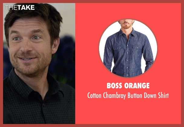 Boss Orange blue shirt from The Gift seen with Jason Bateman (Simon)