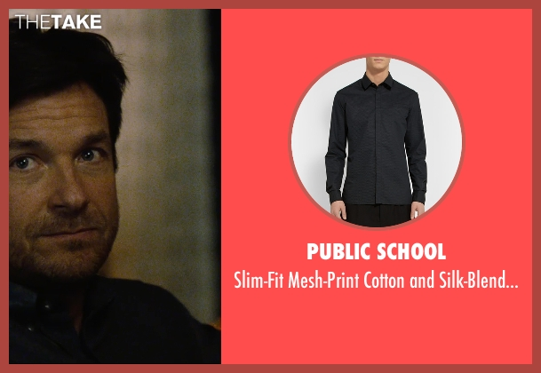 Public School blue shirt from The Gift seen with Jason Bateman (Simon)