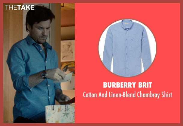 Burberry Brit blue shirt from The Gift seen with Jason Bateman (Simon)