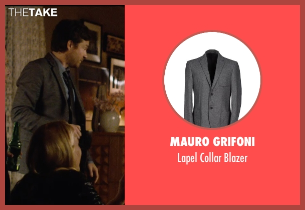 Mauro Grifoni gray blazer from The Gift seen with Jason Bateman (Simon)