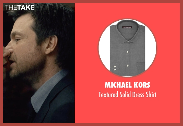 Michael Kors gray shirt from The Gift seen with Jason Bateman (Simon)