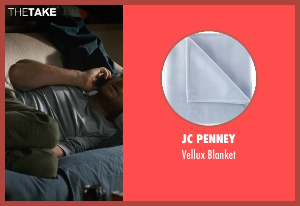 JC Penney blue blanket from This Is Where I Leave You seen with Jason Bateman (Judd Altman)