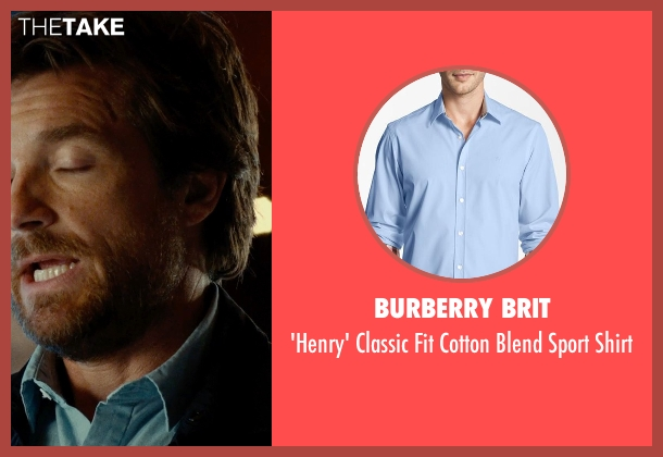 BURBERRY BRIT blue shirt from This Is Where I Leave You seen with Jason Bateman (Judd Altman)