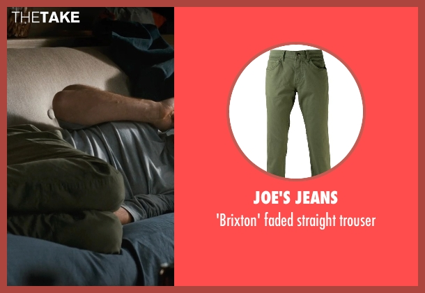 JOE'S JEANS green trouser from This Is Where I Leave You seen with Jason Bateman (Judd Altman)
