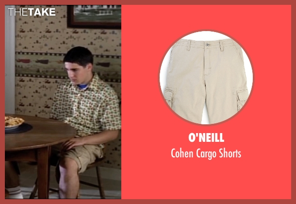 O'Neill beige shorts from American Pie seen with Jason Biggs (Jim Levenstein)