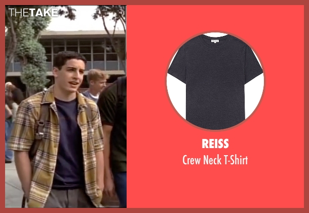 Reiss blue t-shirt from American Pie seen with Jason Biggs (Jim Levenstein)