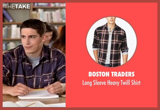 Boston Traders brown shirt from American Pie seen with Jason Biggs (Jim Levenstein)