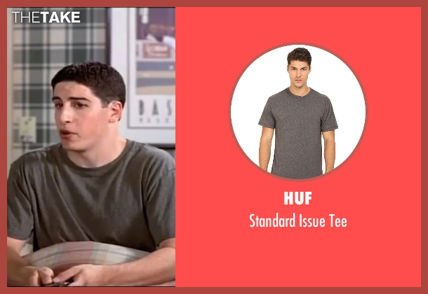 HUF gray tee from American Pie seen with Jason Biggs (Jim Levenstein)