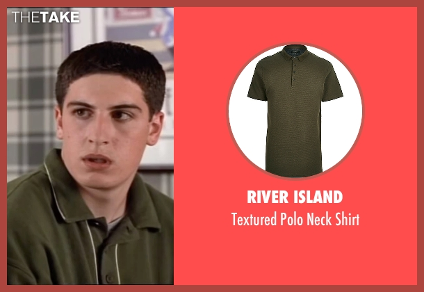 River Island green shirt from American Pie seen with Jason Biggs (Jim Levenstein)
