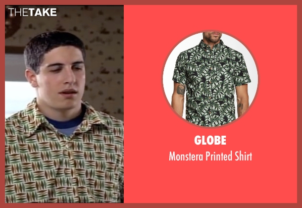 Globe green shirt from American Pie seen with Jason Biggs (Jim Levenstein)