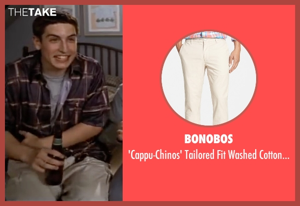 Bonobos white chinos from American Pie seen with Jason Biggs (Jim Levenstein)