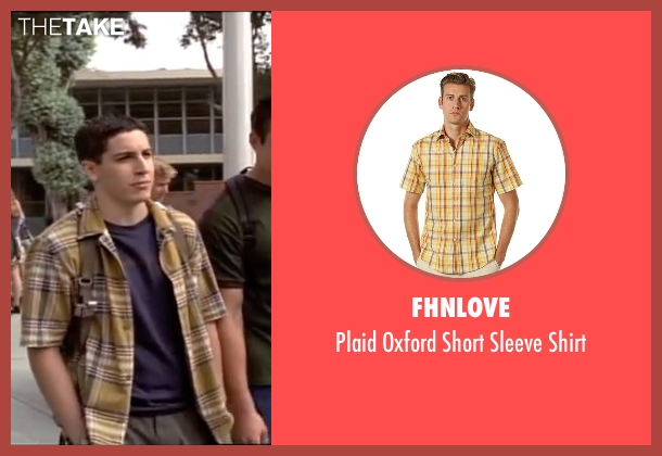 Fhnlove yellow shirt from American Pie seen with Jason Biggs (Jim Levenstein)