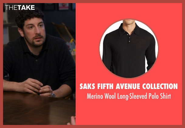 Saks Fifth Avenue Collection black shirt from Chelsea seen with Jason Biggs