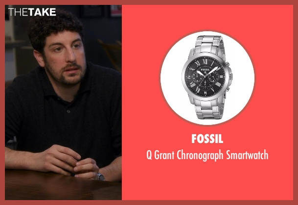 Fossil silver smartwatch from Chelsea seen with Jason Biggs