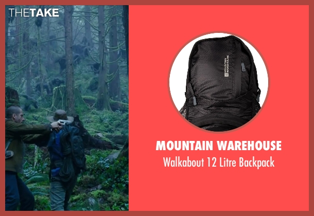 MOUNTAIN WAREHOUSE black backpack from Dawn of the Planet of the Apes seen with Jason Clarke (Malcolm)