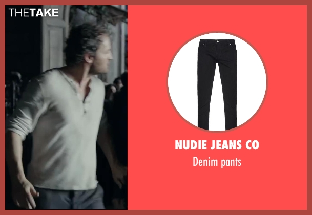 NUDIE JEANS CO black pants from Dawn of the Planet of the Apes seen with Jason Clarke (Malcolm)