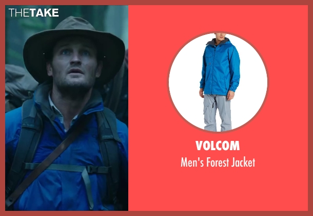 VOLCOM blue jacket from Dawn of the Planet of the Apes seen with Jason Clarke (Malcolm)