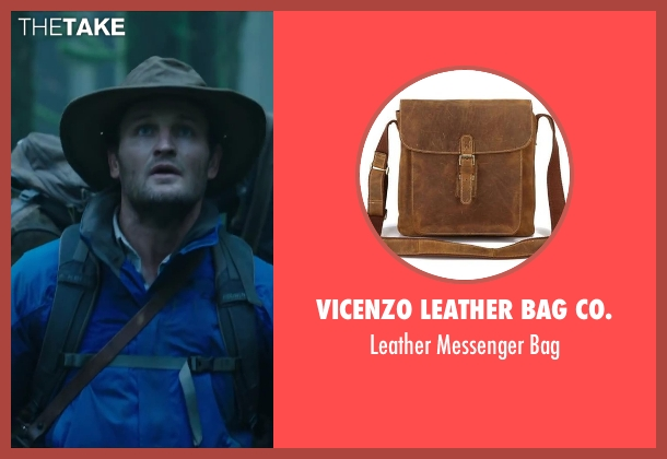 VICENZO LEATHER BAG CO. brown bag from Dawn of the Planet of the Apes seen with Jason Clarke (Malcolm)