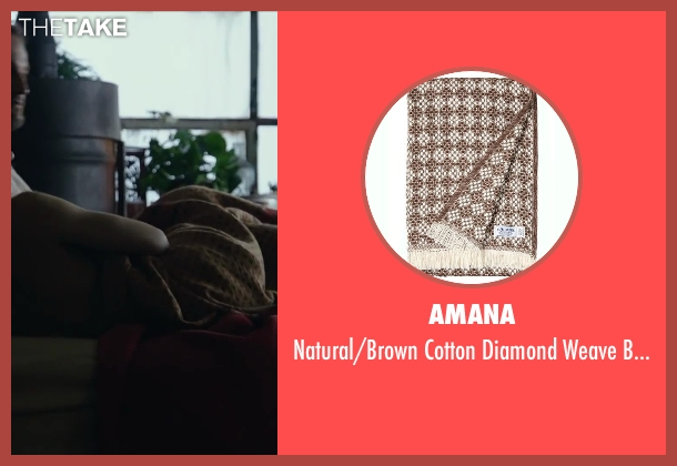 AMANA brown blanket from Dawn of the Planet of the Apes seen with Jason Clarke (Malcolm)