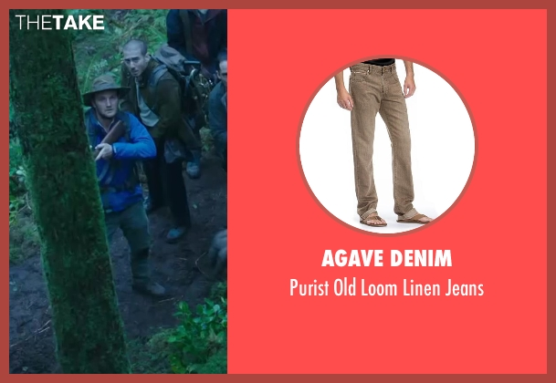 AGAVE DENIM brown jeans from Dawn of the Planet of the Apes seen with Jason Clarke (Malcolm)