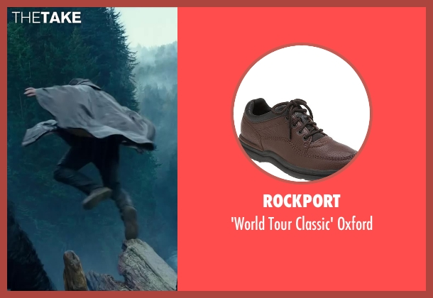 ROCKPORT brown oxford from Dawn of the Planet of the Apes seen with Jason Clarke (Malcolm)