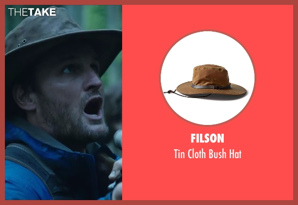 Filson gray hat from Dawn of the Planet of the Apes seen with Jason Clarke (Malcolm)