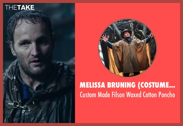 Melissa Bruning (Costume Designer) poncho from Dawn of the Planet of the Apes seen with Jason Clarke (Malcolm)