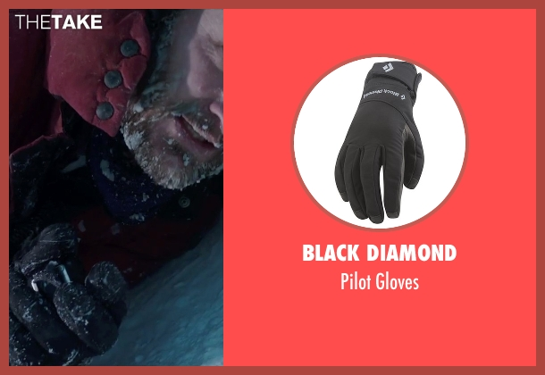 Black Diamond black gloves from Everest seen with Jason Clarke (Rob Hall)