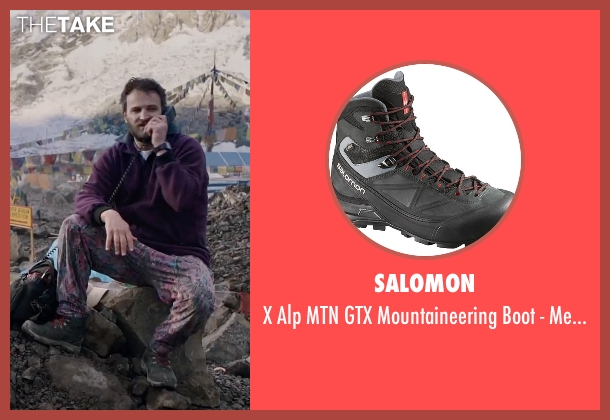Salomon black men's from Everest seen with Jason Clarke (Rob Hall)