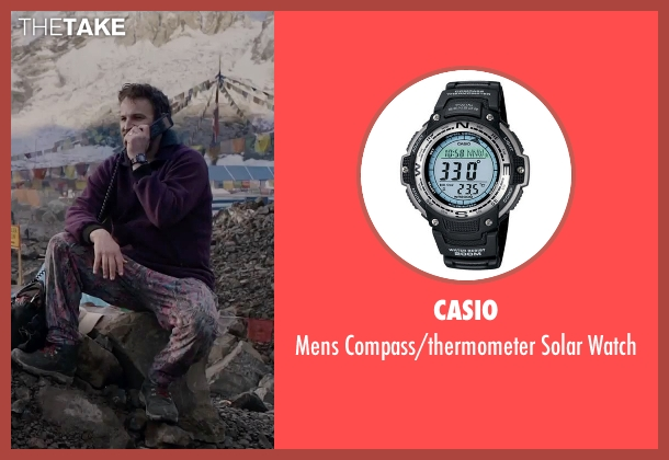 Casio black watch from Everest seen with Jason Clarke (Rob Hall)